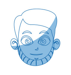head face man character comic vector image