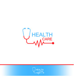 health care icon logo tonometer with heart vector image