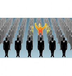 man standing out from crowd vector image vector image