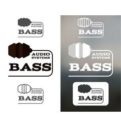 Music audio systems logo badge label logotype vector image