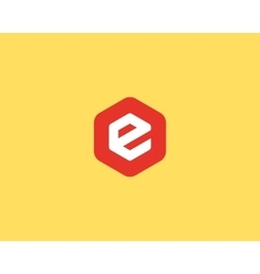 Abstract letter E logo design template Colorful vector image