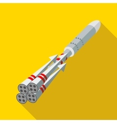 Rocket engines icon flat style vector