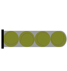 Tube with balls vector image vector image