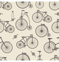 Background bicycle seamless vector image vector image