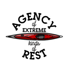 Color vintage agency of extreme emblem vector