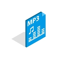 MP3 file format icon isometric 3d style vector image vector image