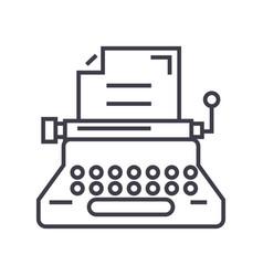typewriterwriterwritingcopywriting line vector image vector image