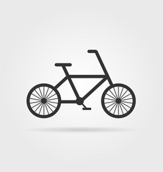 black simple bicycle emblem with shadow vector image vector image
