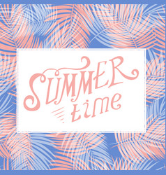 colored summer time background vector image vector image