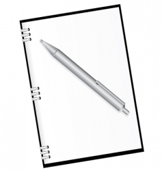 diary and pen vector image vector image