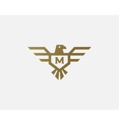 Eagle logotype Letter shield logo design vector image vector image