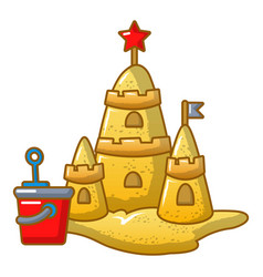 sand castle icon cartoon style vector image vector image
