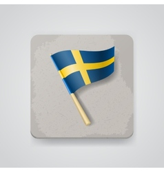 Sweden flag icon vector image vector image