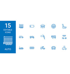 15 auto icons vector