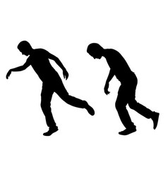 a men stumbling vector image