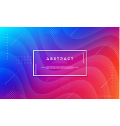 abstract dynamic color background design vector image