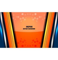 Abstract inspire orange background vector