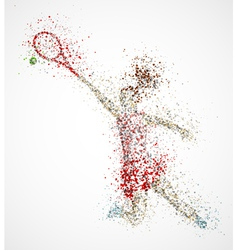 Abstract tennis player vector