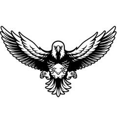 american bald eagle with open wings and claws vector image