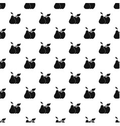 Apple and pear pattern vector