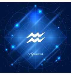 Aquarius sign zodiac vector