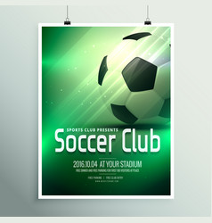 awesome sports flyer poster design template vector image