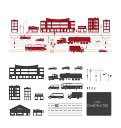 Big set with city elements to make your own city vector image