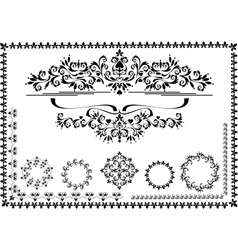 Black ornamental frame vector