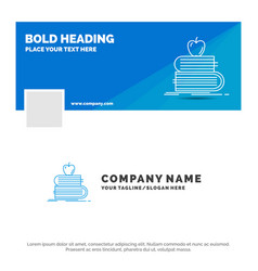 Blue business logo template for back to school vector