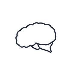 Brain organ human think intelligence icon vector