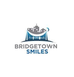 bridge town logo designs for construction logo vector image