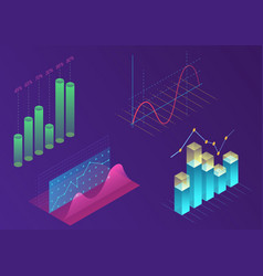 bright modern gradient color infographic vector image