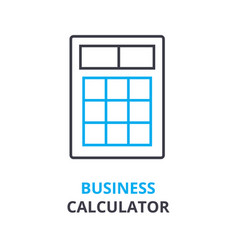 business calculator concept outline icon linear vector image
