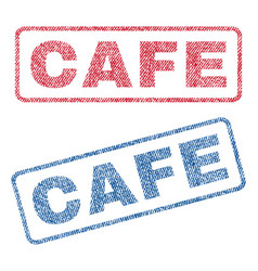 Cafe textile stamps vector