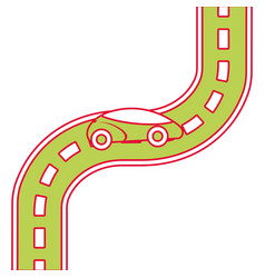 car road street highway direction plan vector image
