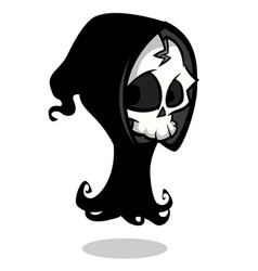 Cartoon of spooky halloween death skeleton vector