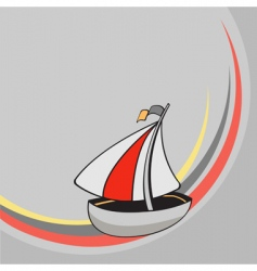 cartoon sailing ship vector image