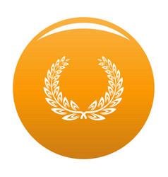 Certified wreath icon orange vector