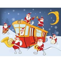 Christmas Santa Claus Music Band vector