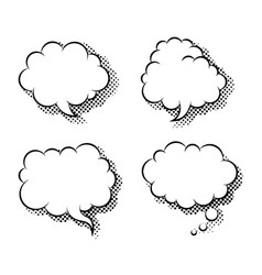 clouds speech bubbles flat icon isolated vector image