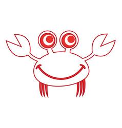 Comic character crab icon vector