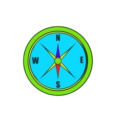 Compass icon in cartoon style vector