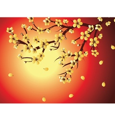 Decorative Sakura Background2 vector image vector image