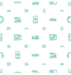 Device icons pattern seamless white background vector