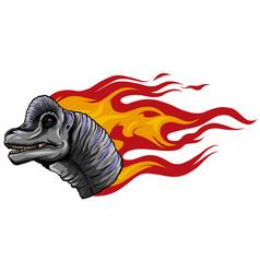 Dinosaurus brachiosaurus head art vector