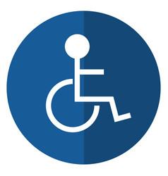 disabled person wheelchair sign road shadow vector image