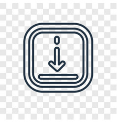 downward concept linear icon isolated on vector image