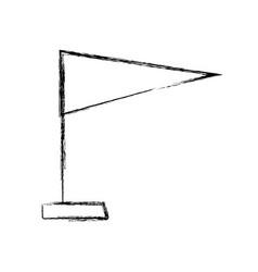 figure flag decoration celebration style design vector image vector image