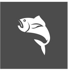 Fish logo template design vector