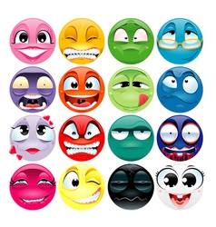 Funny faces with different expressions vector image
